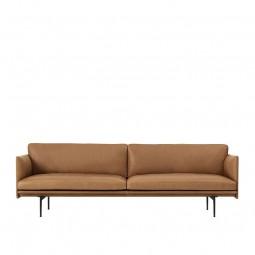 Muuto Outline 3. Pers. Sofa Cognac Silke Læder-20