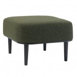 By KlipKlap – Lounge Puf – Sort Eg – Boucle Mørkegrøn-20