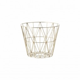 Ferm Living Wire Basket Small Messing-20