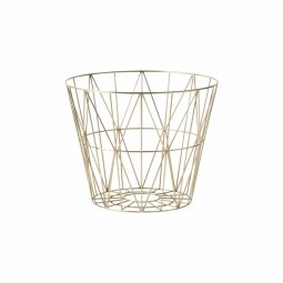 Ferm Living Wire Basket Medium Messing-20