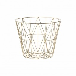 Ferm Living Wire Basket Large Messing-20
