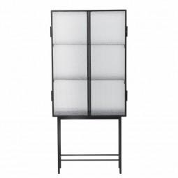 Ferm Living Haze Vitrineskab Wired Glass Sort-20