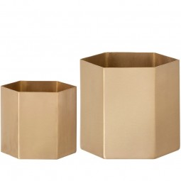 Ferm Living Hexagon Potte Small Messing-20