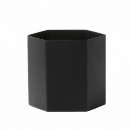 Ferm Living Hexagon Potte Large Sort-20