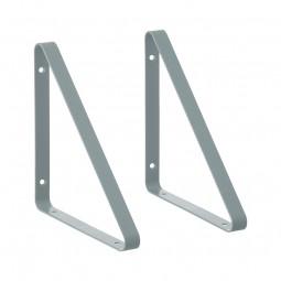 Ferm Living Metal Shelf Hangers Hyldeknægte i Støvet Blå-20