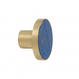 Ferm Living Messing Knag Lapis Lazuli Stor-20