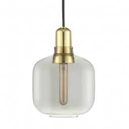 Normann Copenhagen Amp lampe Smoke/Brass Small-20