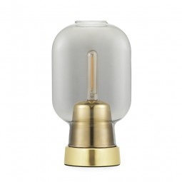 Normann Copenhagen Amp Bordlampe Smoke/Brass-20