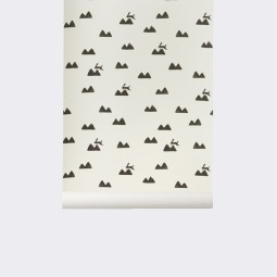 Ferm Living Tapet Rabbit Off_white-20