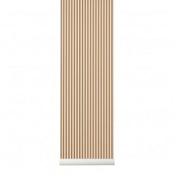 Ferm Living Tapet Thin Lines Mustard Hvid-20