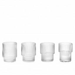 Ferm Living Ripple Glas Klar 4 stk.-20