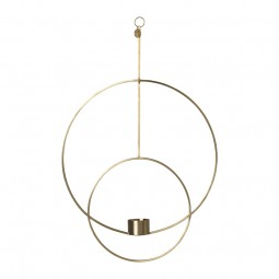 Ferm Living Hanging Fyrfadsstage Deco Rund Messing-20