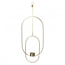 Ferm Living Hanging Fyrfadsstage Deco Oval Messing-20