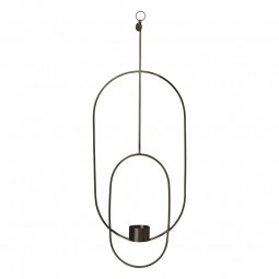 Ferm Living Hanging Fyrfadsstage Deco Oval Sort-20