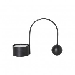 Ferm Living Balance Fyrfadsstage Sort Messing-20