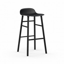 Normann Copenhagen Form Barstol 75 cm. Sort-20