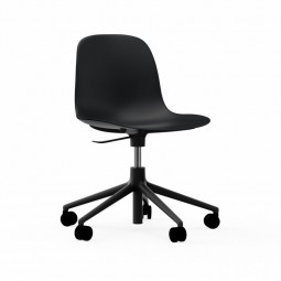 Normann Copenhagen Form Chair Swivel Med Hjul Alu Sort-20