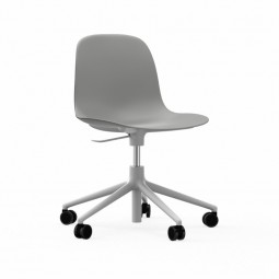 Normann Copenhagen Form Chair Swivel Med Hjul Alu Hvid-20