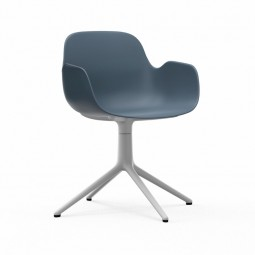 Normann Copenhagen Form Armchair Swivel Hvid Alu-20