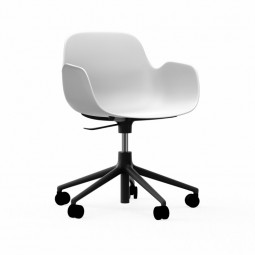 Normann Copenhagen Form Armchair Swivel Med Hjul Sort Alu-20