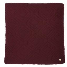 Ferm Living Quilt Pude Bordeaux 45 x 45 cm.-20