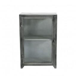 Muubs Iron Glasskab Lav m. 1 glasdør Sort Jern-20