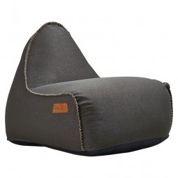 SACKit RETROit Canvas sækkestol Dark Brown-20