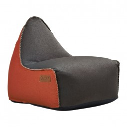 SACKit RETROit Canvas sækkestol Dark Brown/Orange-20