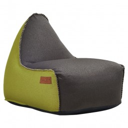 SACKit RETROit Canvas sækkestol Dark Brown/Lime-20