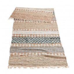 MUUBS Håndvævet tæppe i læder Wave 100x300 cm.-20