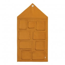 Ferm Living House Wall Storage Mustard-20