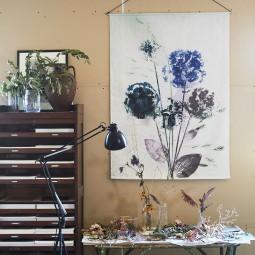 Pernille Folcarelli Wild Bouquet Blue Vægtæppe 70x100 cm-20