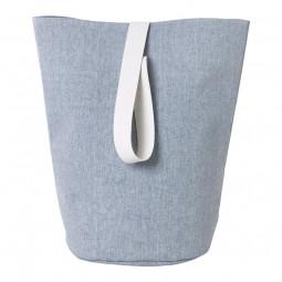 Ferm Living Vasketøjskurv Chambray Stor Blå-20