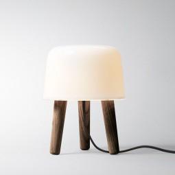 andtradition Milk Lampe Smoked Ask/Hvid Glas m. Sort stofledning-20
