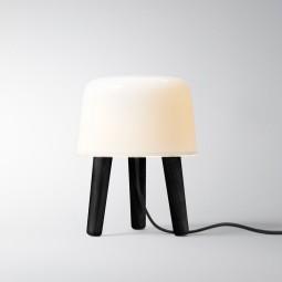 andtradition Milk Lampe Black Ask/Hvid Glas m. Sort stofledning-20
