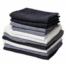 By Nord hørhåndklæde 130 x 100 cm Hvid-20