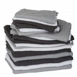 By Nord hørhåndklæde 130 x 100 cm Mørkegrå-20