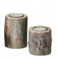 by Piippola Silver Pine Candle Holder DUO-20