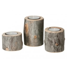 by Piippola Silver Pine Candle Holder TRIO-20