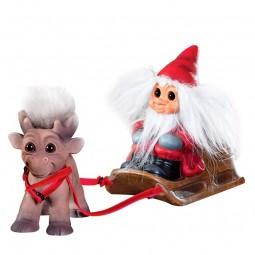 bySommer Lykketrold Julemand med Rensdyr Brave-20