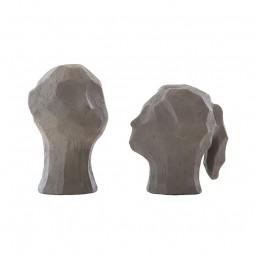 Cooee Design Skulptur BENEDICT and AMAL Graphite-20