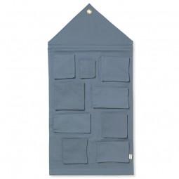 Ferm Living House Wall Storage Dusty Blue-20