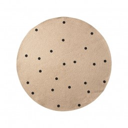 Ferm Living Jute Tæppe Black Dots Small-20