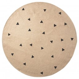 Ferm Living Jute Tæppe Black Triangles Large-20