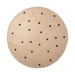 Ferm Living Jute Tæppe Black Triangles Small-20