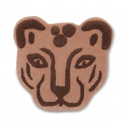 Ferm Living Kids Tufted Tæppe Leopard Hoved Brun-20