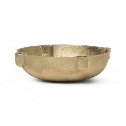 Ferm Living Bowl Lysestage Messing Small-20