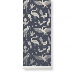 Ferm Living Tapet Katie Scott Birds Dark Blue-20