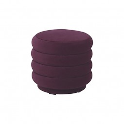 Ferm Living Velour Puf Lille Bordeaux-20