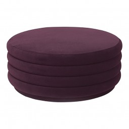 Ferm Living Velour Puf Stor Bordeaux-20